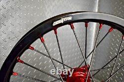 Honda CRF250 CRF450 Motocross Wheels Rims Black Red Complete 19/21 CRF 250 450