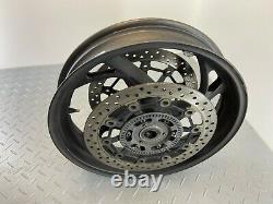 Honda Cb1000r 2012 Abs Front Wheel Rim & Brake Discs Pair Complete