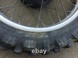 Honda Cr125 Cr250 Cr500 Original Oem Complete Rear Wheel / Rim 1984 K