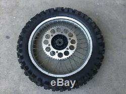 Honda Cr125 Cr250 Cr500 Original Oem Complete Rear Wheel Rim 1987 1994 J