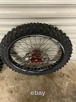 Honda Crf 450 R 2014 Complete Talon/black/red Wheel Set Dics Spacers Tyre