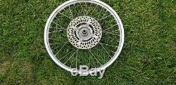Honda XR 650 R Front Wheel rim with rotor complete 00 07