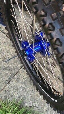 Husqvarna FC 250/450 Complete SM Pro MX Wheels (Blue hubs/Black Rims)