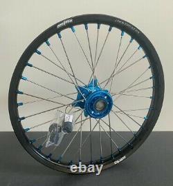 Husqvarna FC FE TE Motocross Wheels Rims Black Blue Complete 18/21 125 250 450