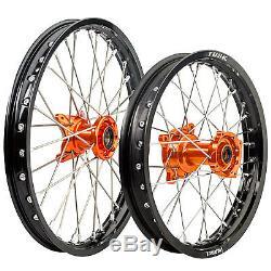 Impact Complete Front/Rear Wheel Kit 1.40 x 19/1.85 x 16 Black Rim/Silver Spoke/