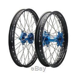 Impact Complete Front/Rear Wheel Kit 1.60 x 21/2.15 x 18 Black Rim/Silver Spoke/