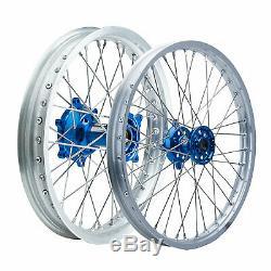 Impact Complete Front/Rear Wheel Kit 1.60 x 21 / 2.15 x 18 Silver Rim/Silver