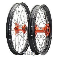 Impact Complete Front/Rear Wheel Kit 1.60 x 21/2.15 x 19 Black Rim/Silver Spoke/