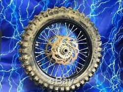 KTM Complete Rear Wheel Rim Black Excel OEM Stock Assembly 125-530 18x2.15