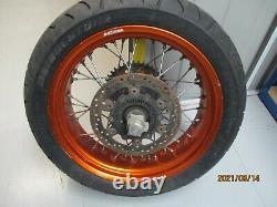 KTM SMC-R 690 ABS 2014 Rear wheel. Complete wheel. Good used OEM part