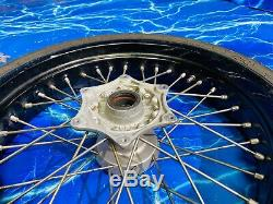 KTM Supermoto Complete Front Wheel Rim OEM Black Stock Assembly 17 Inch OEM