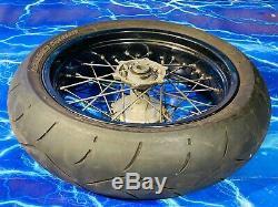 KTM Supermoto Complete Rear Wheel Rim OEM Black Stock Assembly 17inch x 5 OEM