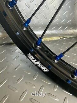 Kawasak Motocross Wheels Rims Black Blue Complete 19/21 KX250F KX450F KX 250 450