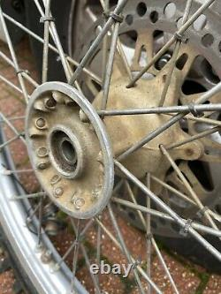Kawasaki kx 125 1991 complete front wheel wheel rim tyre spokes hub