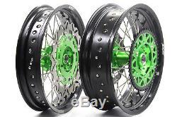 Kke 17 Supermoto Complete Wheel Rim For Kawasaki Kx250 2007 Kx250f Kx450f 06-18