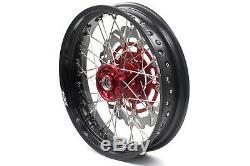 Kke 17 Supermoto Complete Wheel Rim Set Fit Suzuki Rmz450 2005 Rmz250 2007-2020