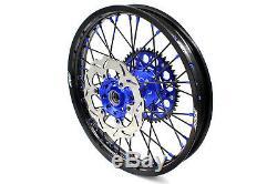 Kke 21/19 Complete MX Wheel Rim Set Fit For Yamaha Yz250f Yz450f 2016-2020 Blue