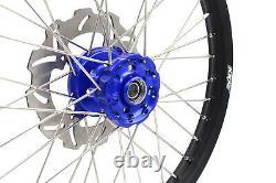 Kke 21 19 Complete MX Wheel Rim Set For Kawasaki Kx125 Kx250 1993-2002 Blue