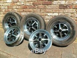 MGB Chrome Rostyle Wheels Complete set of 5
