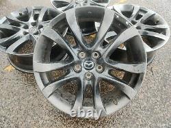 Mazda 6 / CX-5 Complete Set of 19 Alloy Wheels (Black Double Spoke) 19x7.5J