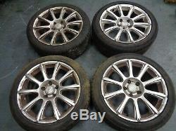 Mazda RX-8 complete set of four18 10 spoke alloys wheels tyres in silver 5 stud