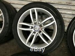 Mercedes Benz Oem W204 C250 C300 C350 Front Rear Set Rim Wheel & Tire 17 08-15
