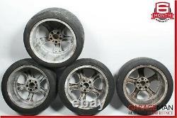 Mercedes W203 C230 C320 CLK350 Staggered R17 Wheel Tire Rim Set 7.5x8.5 Chrome