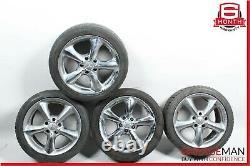 Mercedes W203 C230 CLK350 Staggered R17 Wheel Tire Rim Set 7.58.5 Chrome OEM