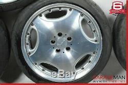 Mercedes W208 W210 W215 W220 Lorinser Complete Wheel Tire Rim Set 9Jx19H2 ET44