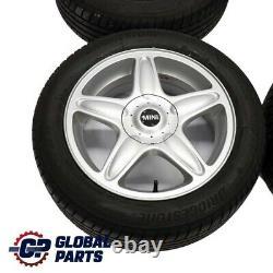 Mini Cooper R50 R56 Complete 4x Wheel Alloy Rim Tyres 16 5 Star Blaster 103