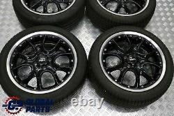 Mini R50 R56 Complete 4x Wheel Alloy Rim with Tyres 17 7J Web Cross Spoke 98