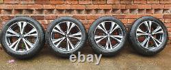NISSAN QASHQAI J11 COMPLETE SET OF DIAMOND CUT ALLOY RIMS 18 Continental tyres