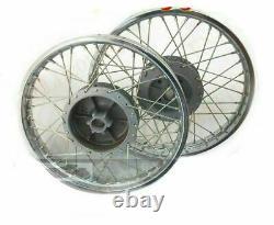 New Complete Pair Steel Wheel Rim Wm2 19 fit for Royal Enfield Bullet 350 500