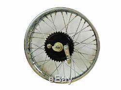 NewVintage 19 Rear Wheel Rim Complete With Spoke Half Width Hub BSA, Norton, RE