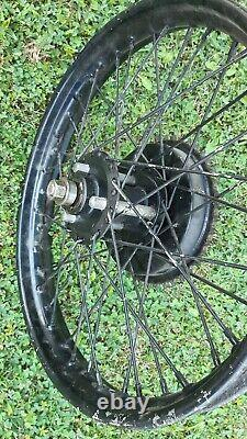 Norton 16h rear wheel complete with drum brake