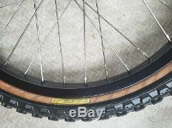 OLD SCHOOL BMX ARAYA 7X RIMS 20 X1.75 36 HOLE BLACK VTG Wheels Tires complete