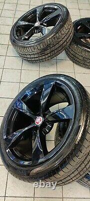 Original Jaguar F-TYPE rims wheels complete. 20 Zoll Alufelgen Radsatz schwarz