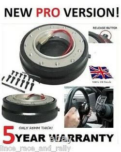 Quick Release Steering Wheel And Boss Hub Kit Fit Vw T4 Transporter 1996 On