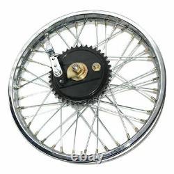 Rear Wheel Rim 19'' Complete With Spoke Half + Hub For Royal Bullet BSA Bike GEc