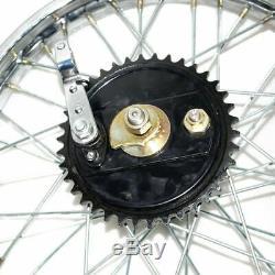 Rear Wheel Rim 19'' Complete With Spoke Half Width Hub Royal Enfield BSA New