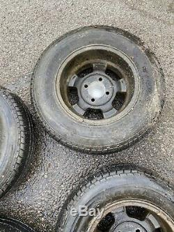 Reliant Scimitar GTE Alloy Wheels 14 -Tyres Are Completely Knackered. Barn Find