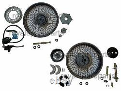 Royal Enfield Classic 350 500 Complete Front & Rear Wheel Rim Disc Brake Model
