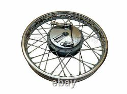 Royal Enfield Complete 19 Inches Front Wheel Rim 40 Holes With Drum Plate