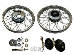 Royal Enfield Complete Front & Rear Wheel