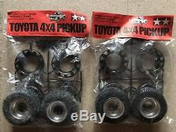 SP-1162 Vintage Tamiya Hilux 4x4 58028 Rims And Tires complete Set