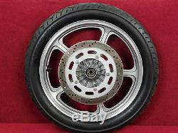 STRAIGHT! FRONT RIM 87-88 VF700C VF750C Super Magna 700/750 complete oem wheel