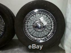 Set Of MG B 14 Inch Wheels & Tyres Set Of Five Complete With Tyres 6mm Of Tread