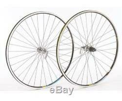 Shimano 105 Silver Hub Mavic Open Pro Black Rim 700c Front Road Bicycle Wheel