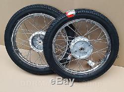 Simson 2x Complete Wheel 2, 75x16 S50 S51 S70 Schwalbe KR51 Rim Tyre