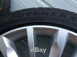 Skoda 19 Inch Trinity Wheels (2018), complete with Bridgestone Potenza Tyres